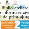 Biblio-ateliere de Informare civică și de prim-ajutor la Filialele Bibliotecii