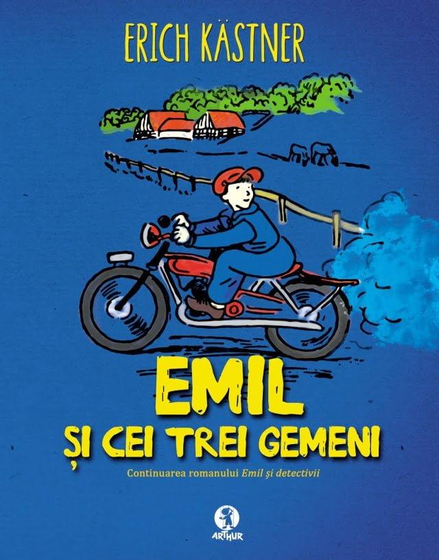 Erich Kastner - coperta Emil-si-cei-trei-gemeni