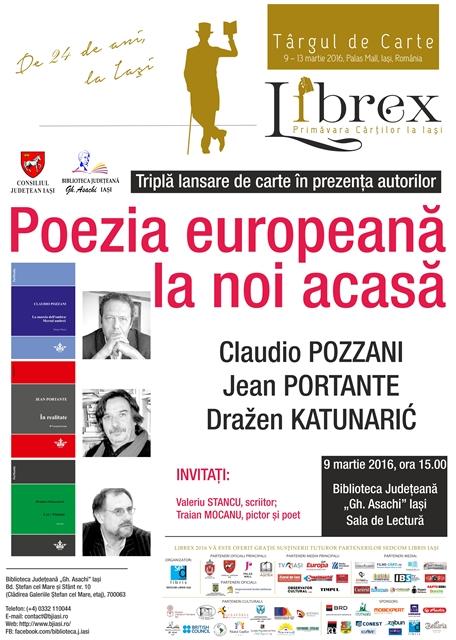 Afis Poezia europeana la noi acasa